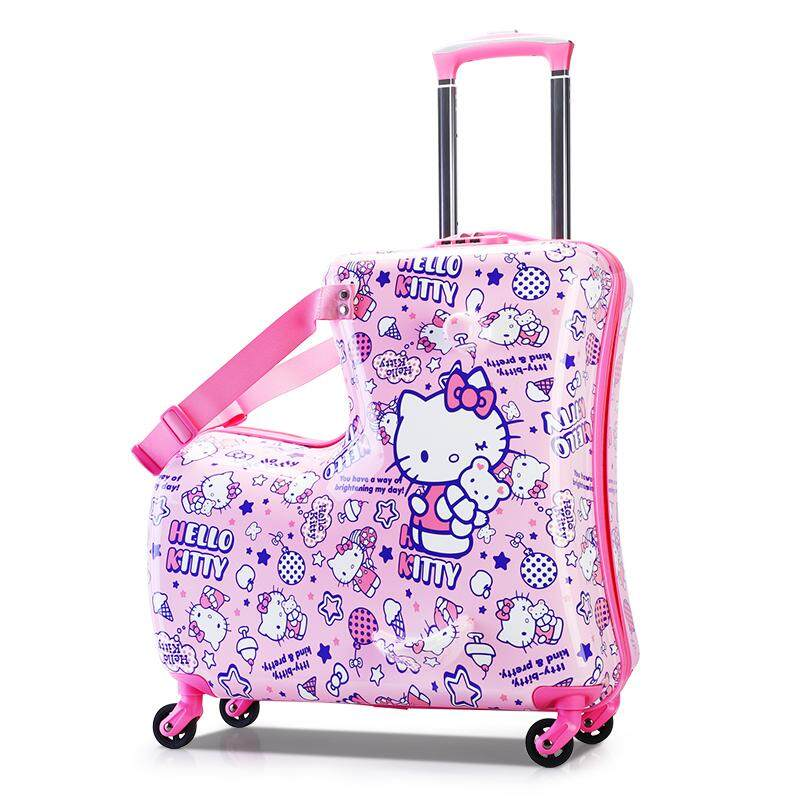 7a765c570 20 Inches Pink Riding Suitcase.Fashion Skateboard Rolling Trolley Case  Storage Box.Kids Luggage