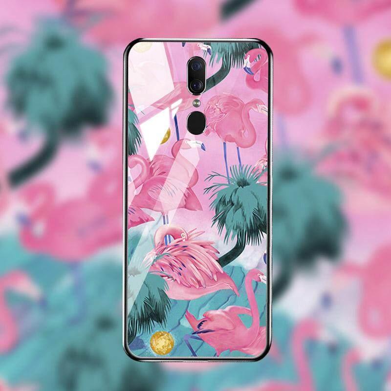 Mewah Kaca Patri Telepon Case S untuk Oppo F11 Oppo A9 Oppo A9X 6.53 Inch Cover Jelas Kotak Pelindung Guncangan Kembali Houisng