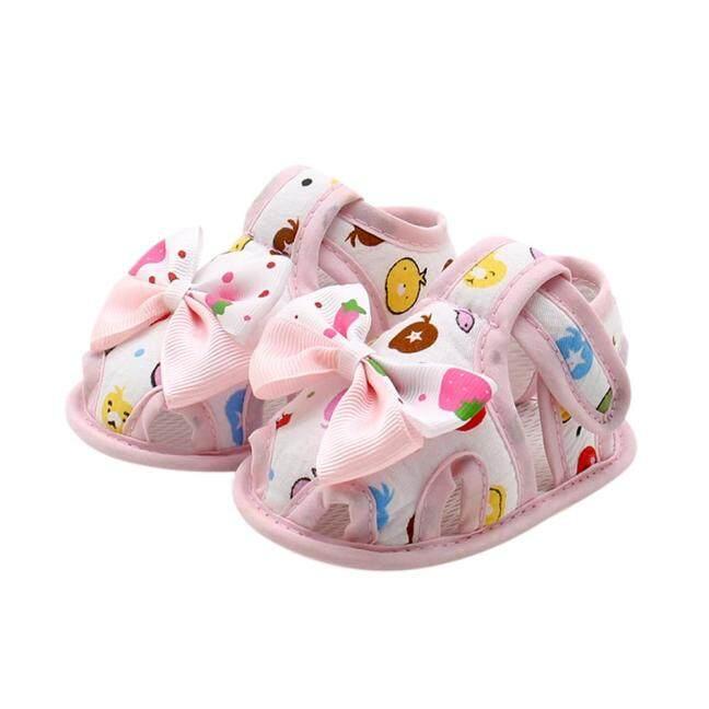Cửa Hàng Bánh Cutie Giày Chống Trượt Đế Mềm Có Nơ Mùa Hè Cho Trẻ Sơ Sinh Bé Gái Giày Xăng Đan giá rẻ