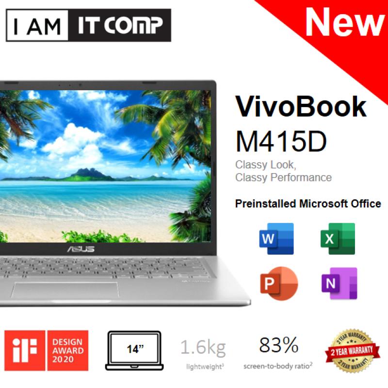 Asus M415D-ABV068TS 14 HD Laptop Silver (RYZEN3-3250U/4GB/256GB SSD/RADEON R3/W10) FOC WIRELESS MOUSE & BACKPACK Malaysia