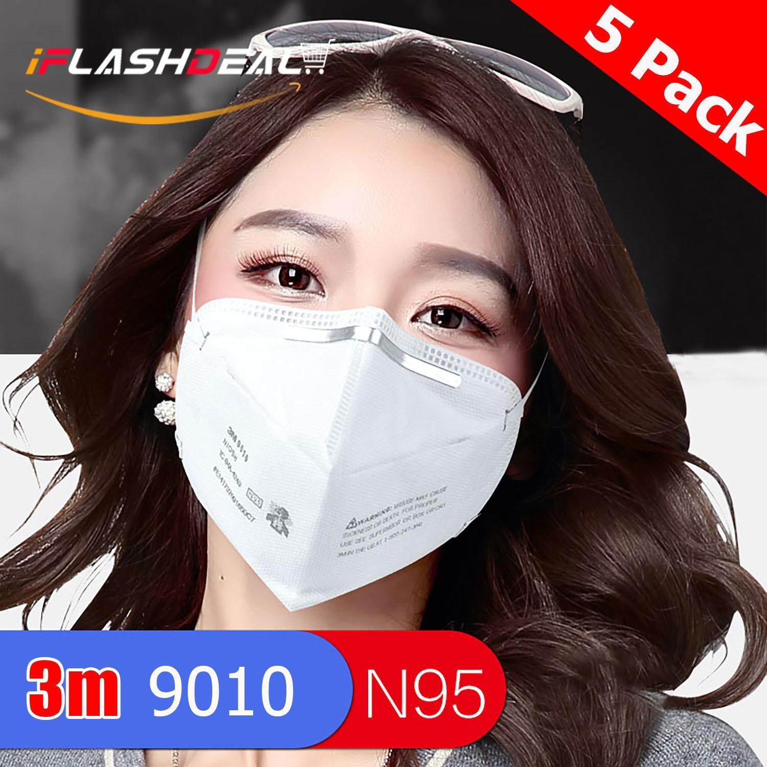 Iflashdeal 3m Dust Mask 9010 N95 Mouth Face Mask Particulate Disposable Respirator Cycling Anti Haze Mask 3d Anti-Fog Anti Pm 2.5 Dust Face Mask Folding Respirator By Iflashdeal.