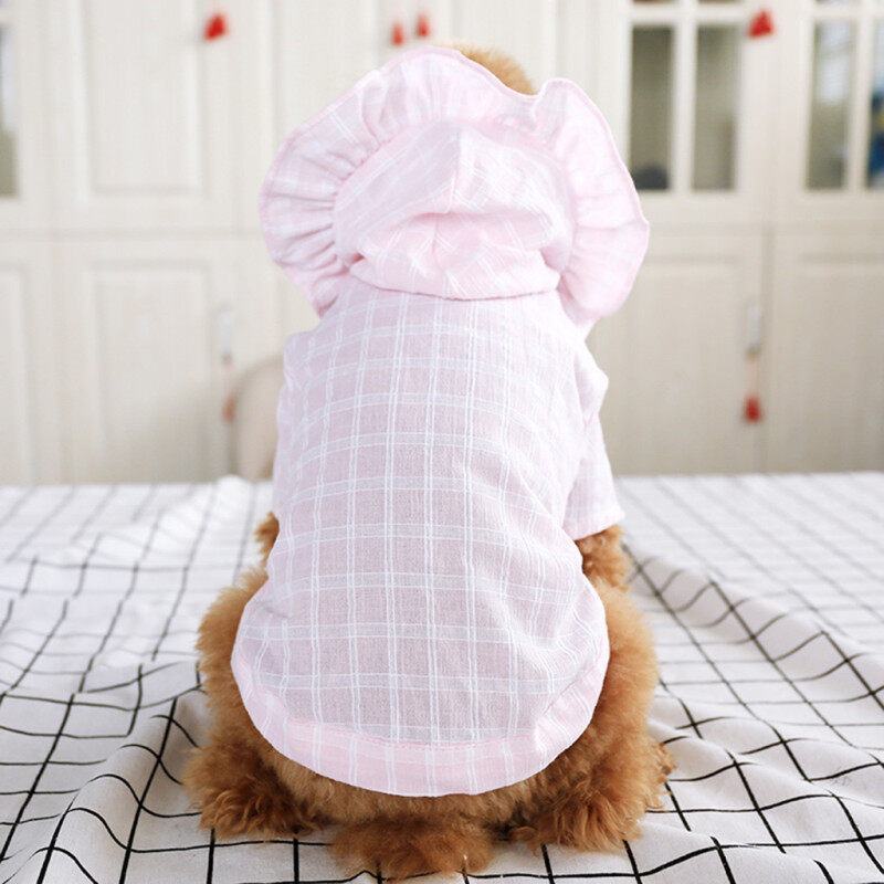 Quần áo thú cưng kikipet Miễn phí vận chuyển COD Mũ che nắng mùa hè cho chó cưng mới Quần áo mỏng thoáng khí thường ngày
