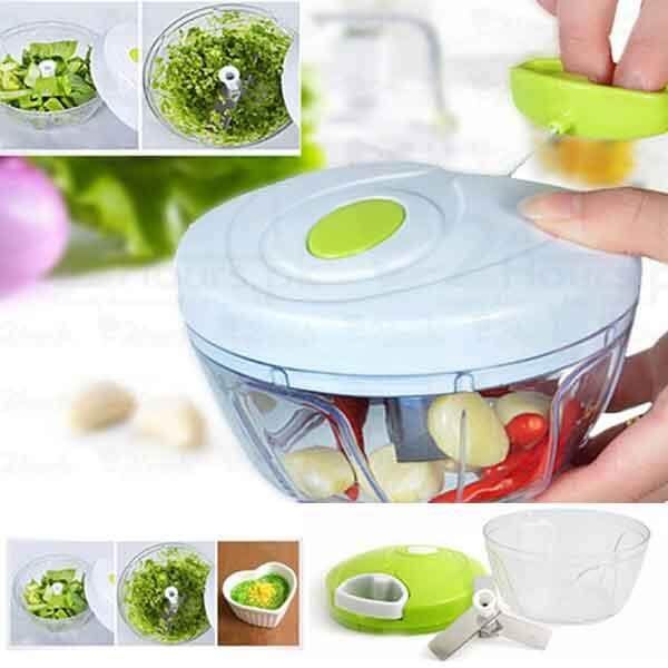 Mini Hachoir Chef Multi-Functional Manual Pull On The Rope Rotating Vegetable Cutter And Chopper By Whatts Thatt.