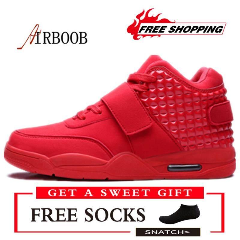 37c7d087e477 AIRBOOB 2018 Fashion Men Casual Shoes High Cut Sneakers Plus Size 39-46  Kasut Lelaki