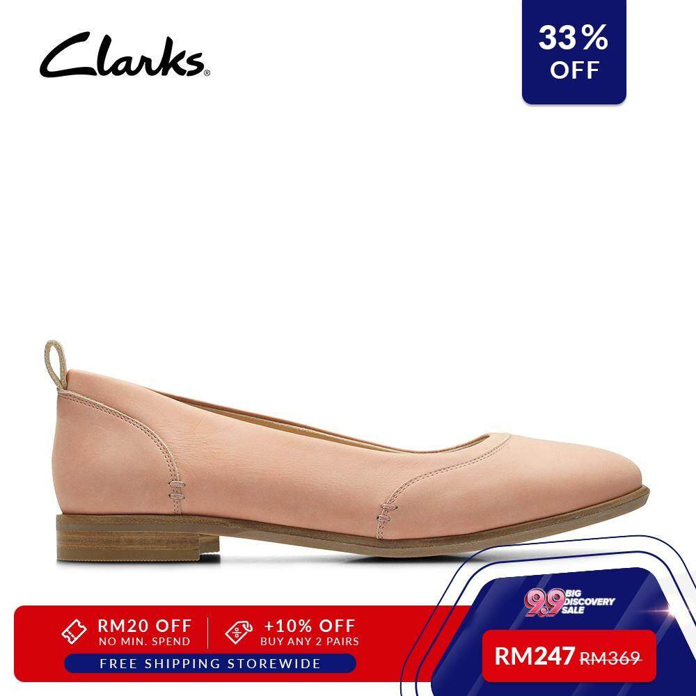 Pink Fashion Ivy Alice Women's Nubuck Clarks Durable Casual Shoes Comfort nwOXP80k
