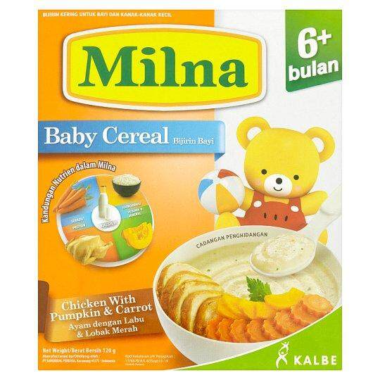 Milna Chicken with Pumpkin & Carrot Baby Cereal 6+ Months 120g