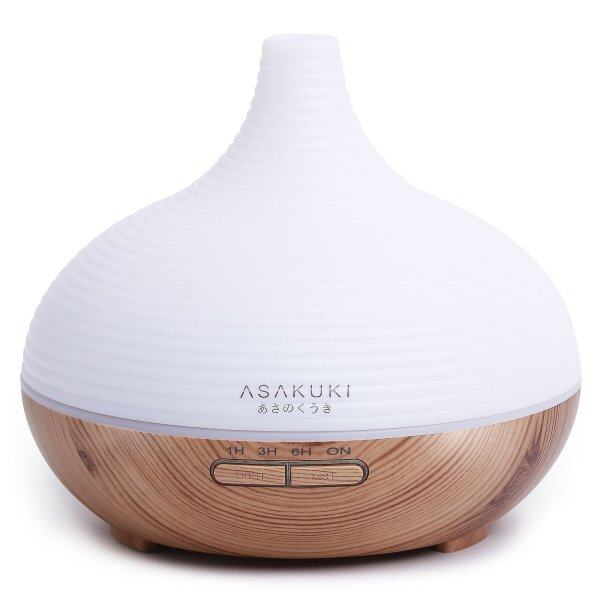 ASAKUKI 300ML Premium, Essential Oil Diffuser, Quiet 5-In-1 Humidifier, Natural Home Fragrance Diffuser with 7 LED Color Changing Light Singapore