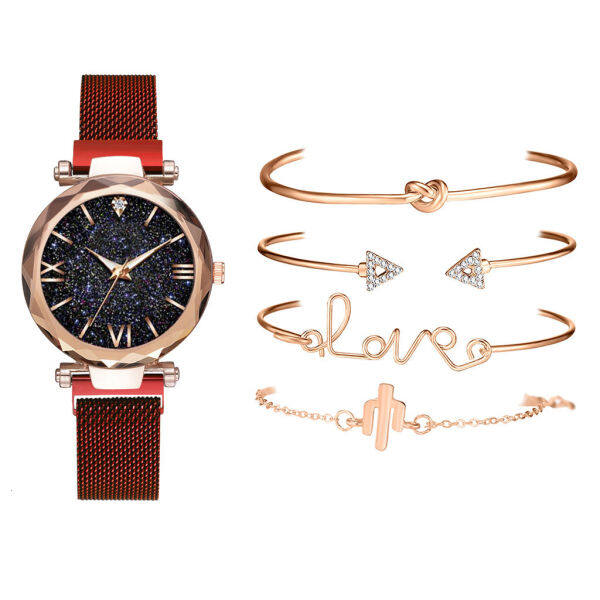 Quartz watch set series trendy Ladies Watch New bracelet set simple fashion table LBCK Malaysia