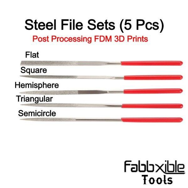 Tool Mini Steel Files Set for Post Processing 3D Printed Part (5 Pcs)