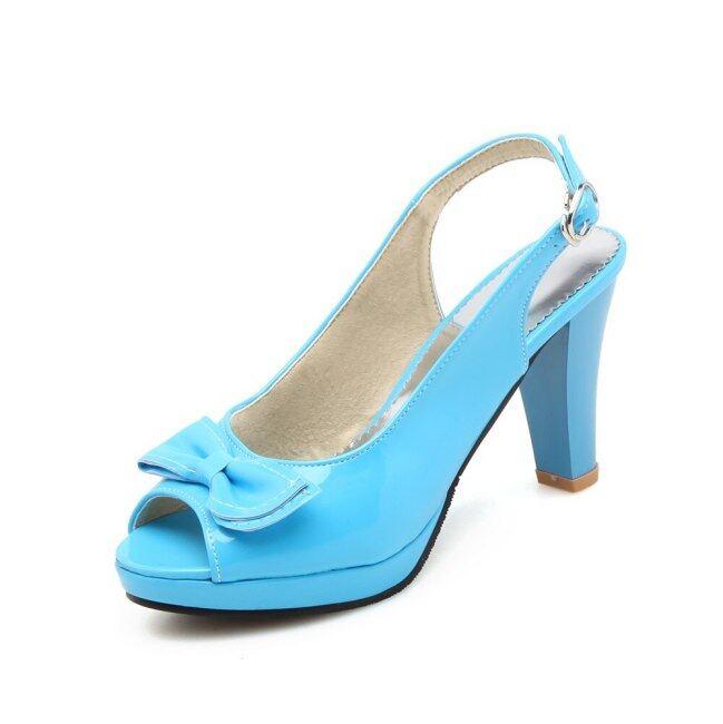 2020 Hot Sale Dép Nữ Hở Ngón Mũi Nhọn Ngọt Ngào Giày Tiệc Cưới Khóa Đơn Giản Giày Mùa Hè Giày Đế Cao Vững Chãi giá rẻ