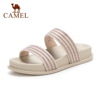 Cameljeans Giày Nữ Mùa Hè Thiết Kế Sọc Cổ Điển Đính Đá, Giày Lười Đi Biển Dành Cho Nữ thumbnail