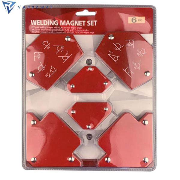 6Pcs Strong Magnetic Welding Magnet Holder Positioner Soldering Locator Welding Power Tool Accessory