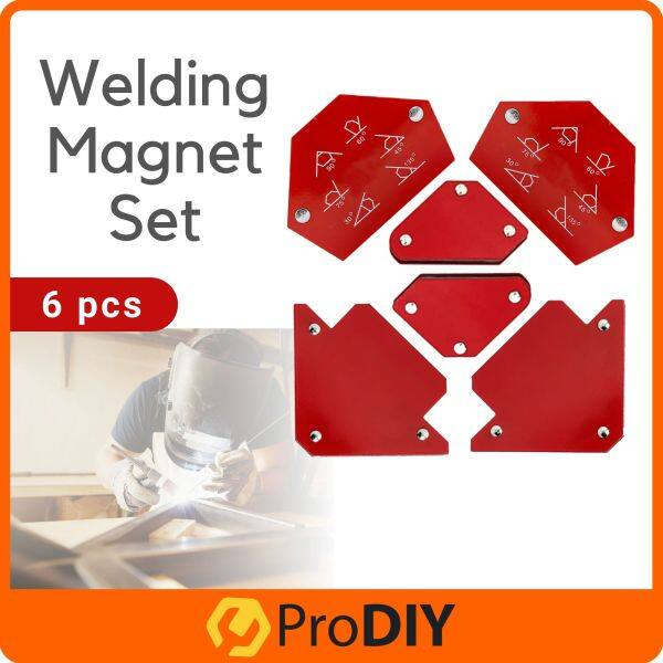 6 pcs Welding Magnet Set Holds Metalpart To Any Angles For Welding Arrow Hexagon Mini Magnetic Clamp