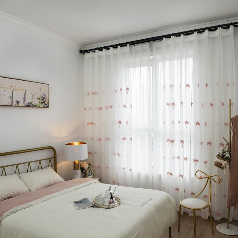 Rèm Cửa Sổ Cây Dừa Hiện Đại Bằng Vải Tuyn Rèm Phòng Ngủ Phòng Khách Sheer