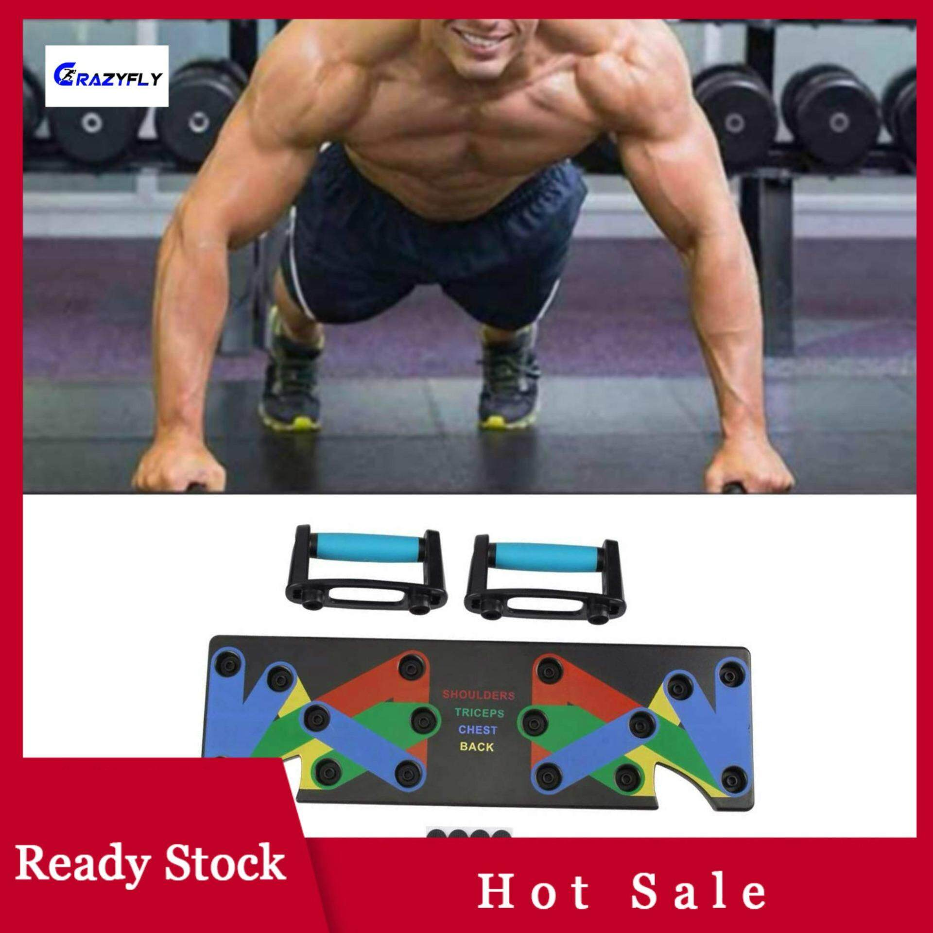 1164c69e30d06 Crazyfly The Ultra Push 9 in 1 System Push-up Bracket Board Portable for  Home