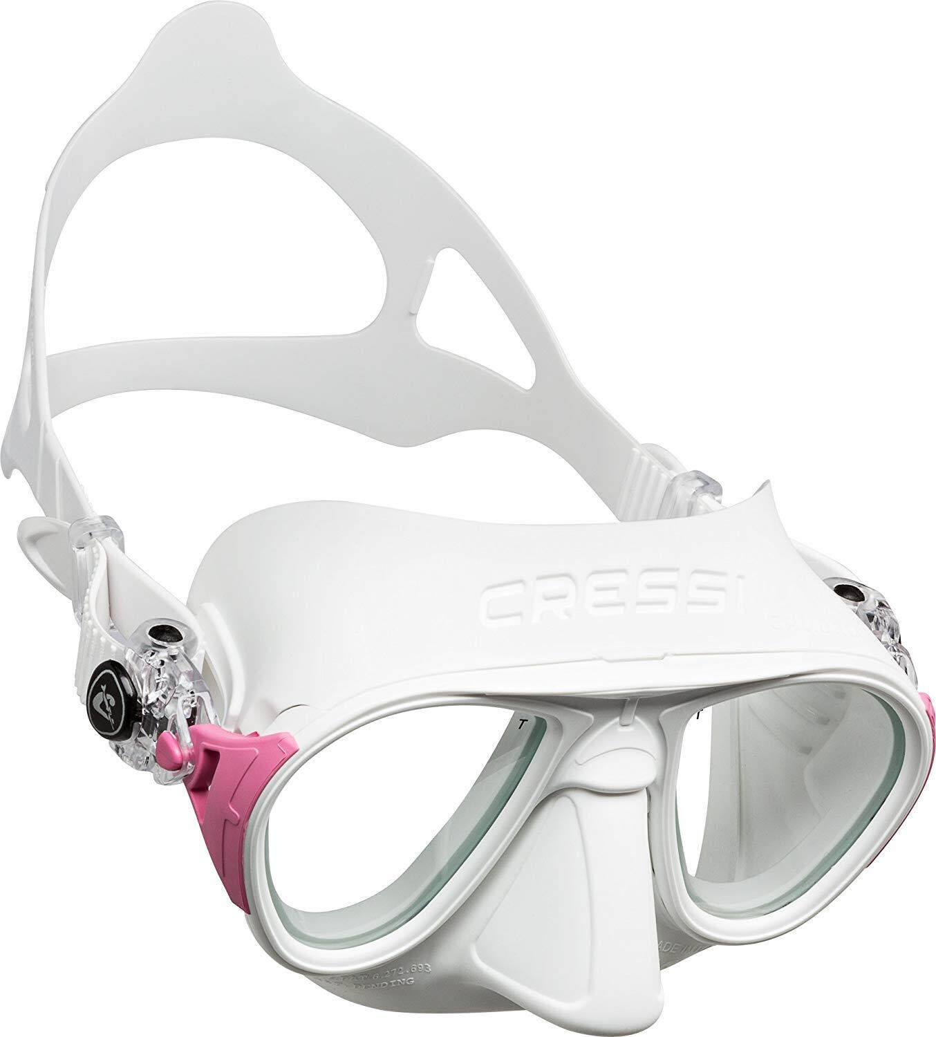 747701236845 Cressi CALIBRO Ultra Low Volume Free Diving Mask Tempered Glass 2 Window  Integrated Dual Frame Matte