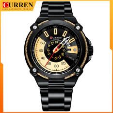Đồng hồ Curren thiết kế cho nam, đồng hồ thạch anh đeo tay thời trang bằng thép không gỉ, đồng hồ nam sang trọng