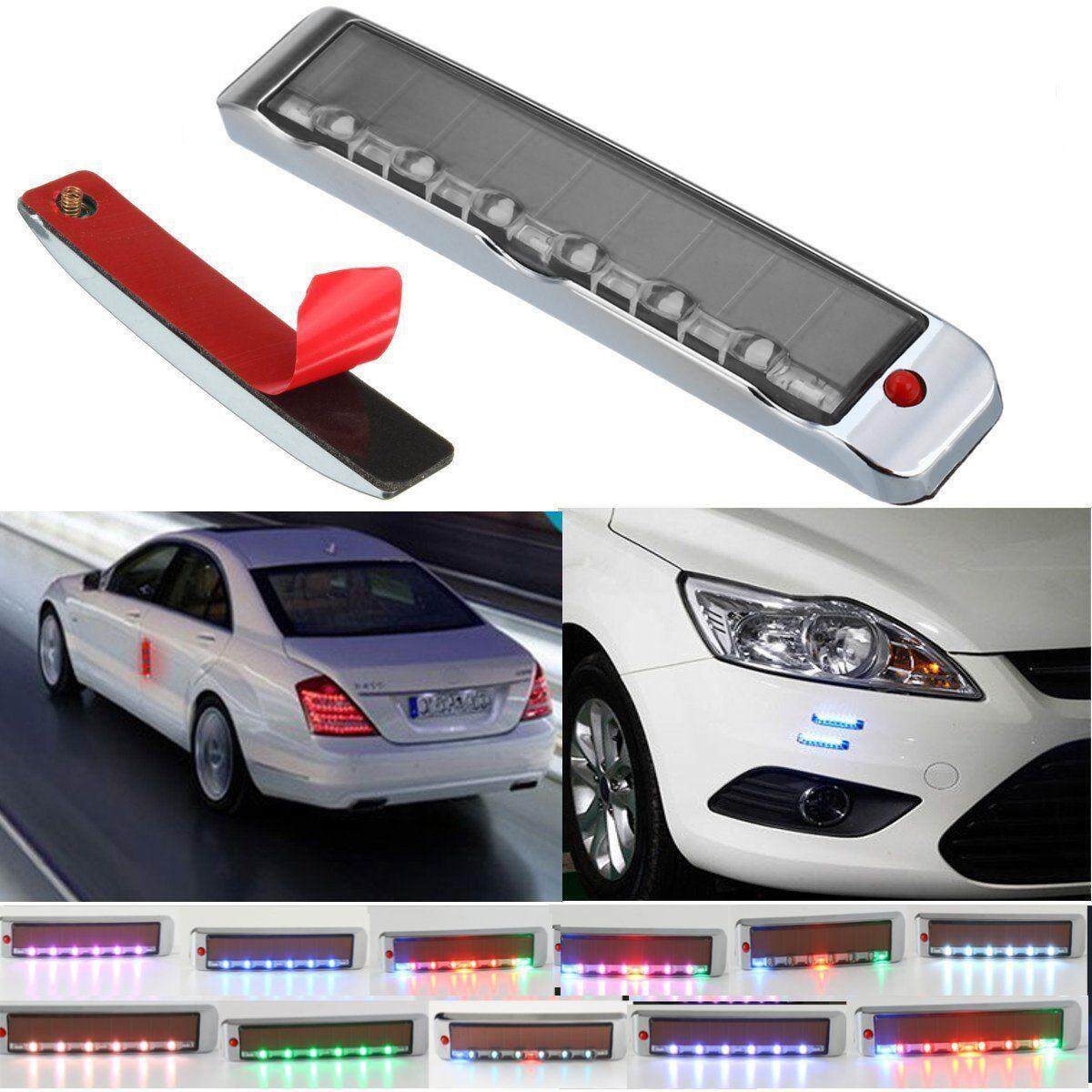 Door Edge Guards Scratch Protector Solar Powered 7 LED Strobe Warning Light 4V