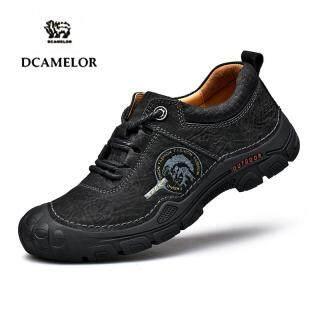Giày Da Bò DCAMELOR Cho Nam, Giày Đi Bộ Đường Dài Ngoài Trời Chống Trượt Chống Thấm Nước Lớp Đầu Tiên Thấp thumbnail