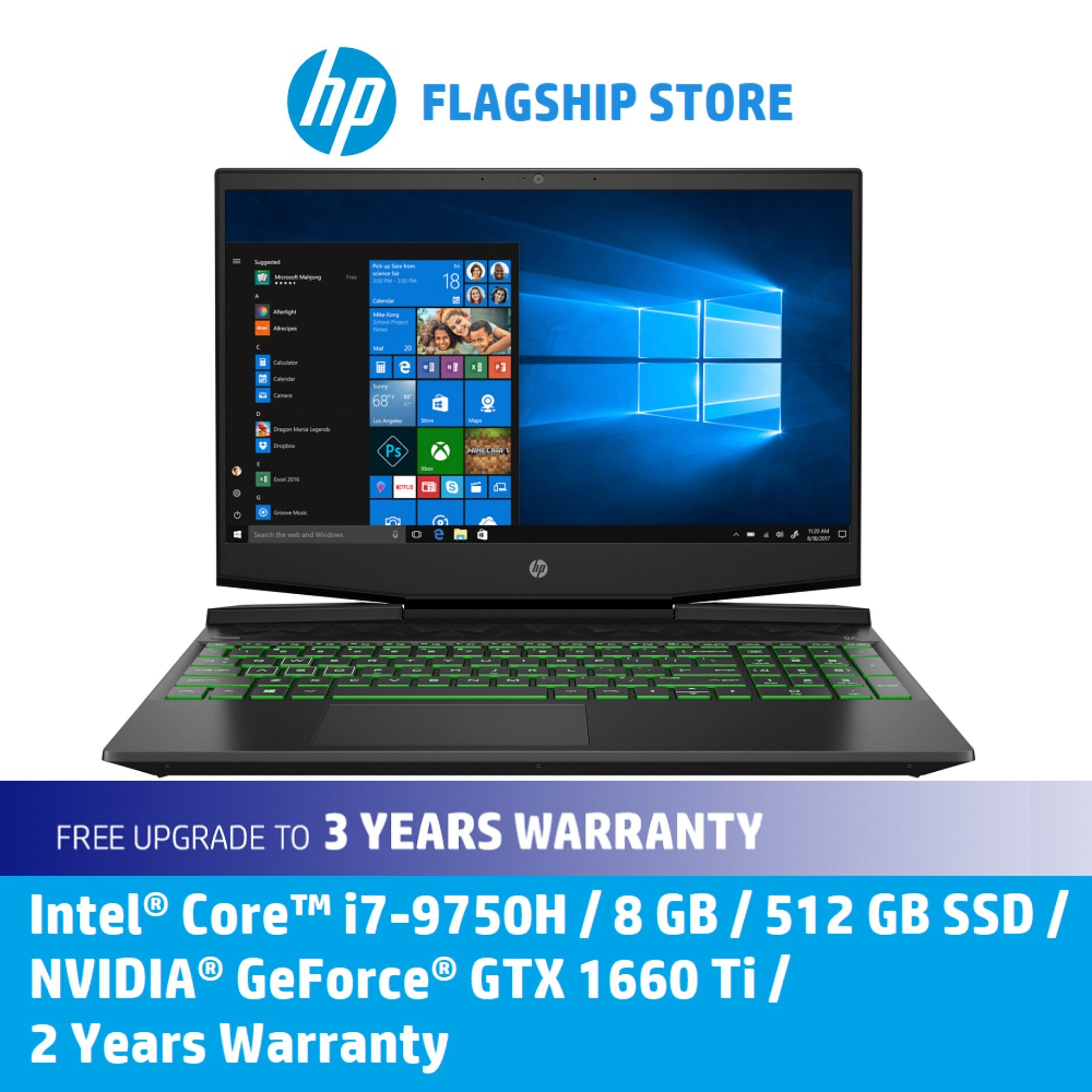 HP Gaming Laptop Pavilion - 15-dk0243tx [FREE Upgrade to 3 Years Warranty, Delivery & Backpack] Malaysia