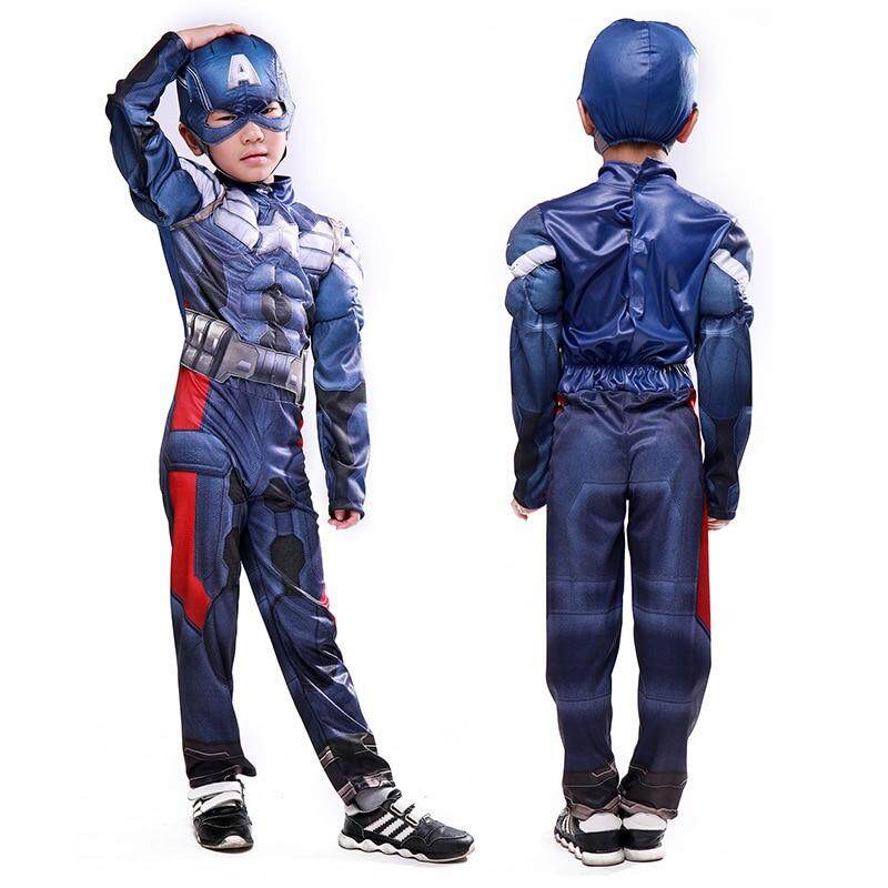 891463a00 Kids Muscle Captain America Costume Child Cosplay Halloween Costumes For  Kids