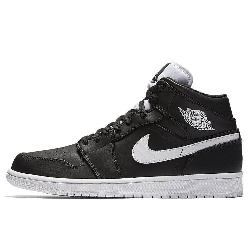 90a7e17c10c nike Air J o r d a n 1 MID Men s Basketball Shoes Outdoor Sports Sneakers  AJ1