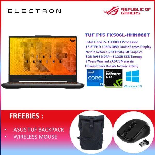 Asus TUF F15 FX506L-HHN080T 15.6 FHD 144Hz Gaming Laptop ( I5-10300H, 8GB, 512GB SSD, GTX1650 4GB, W10 ) Malaysia