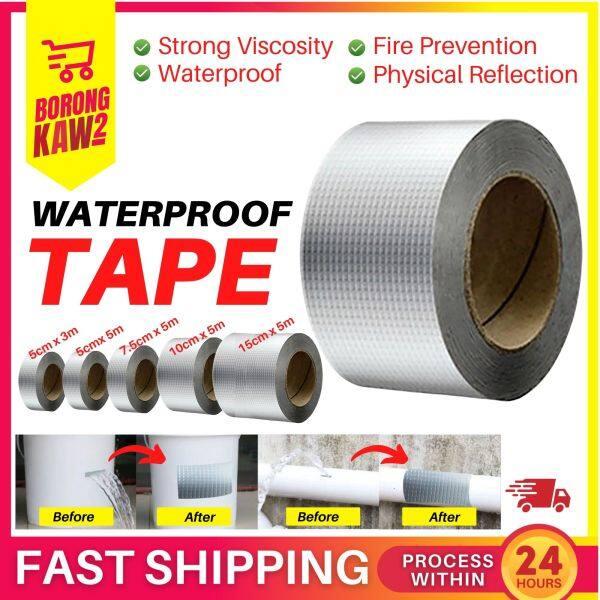 Waterproof Tape Aluminium Foil Adhesive Tape Crack Repair Anti-Leakage Others Gam Bumbung Kuat 5cm 7.5cm 10cm 3m 5m