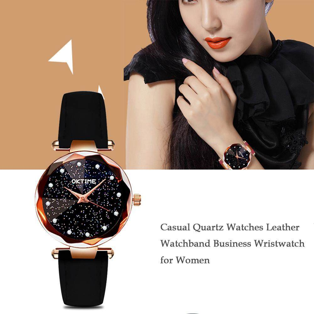 [Pinfect] Fashion Women Casual Quartz Watches Leather Watchband Business Wristwatch for Women Malaysia