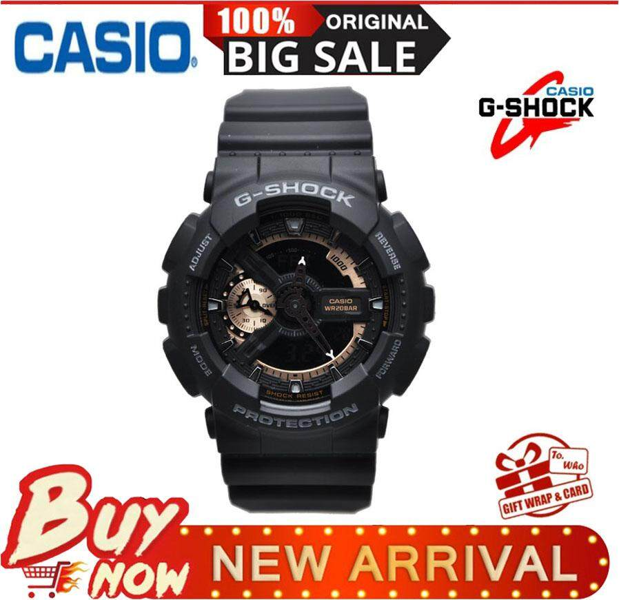 Casio SPORT watches Waterproof shockproof Watch Black / Gold Mens Watch GA-110GB Malaysia