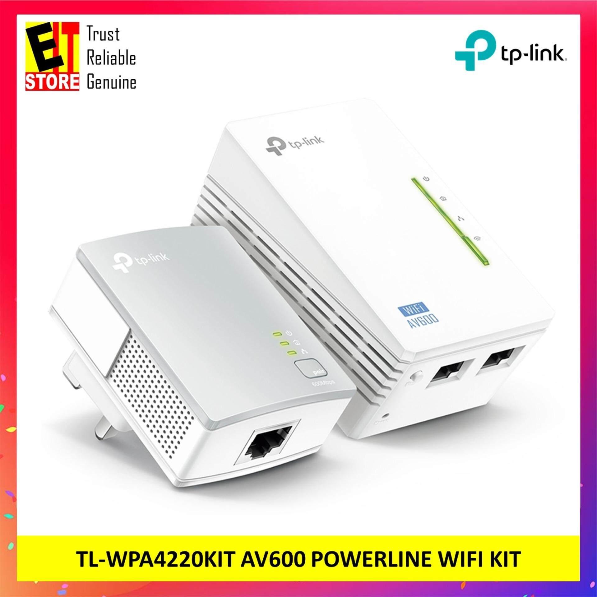 Tp-Link Tl-Wpa4220kit Av600 Powerline Wifi Kit (300mbps Wifi & 600mbps Powerline) By Eit Store.