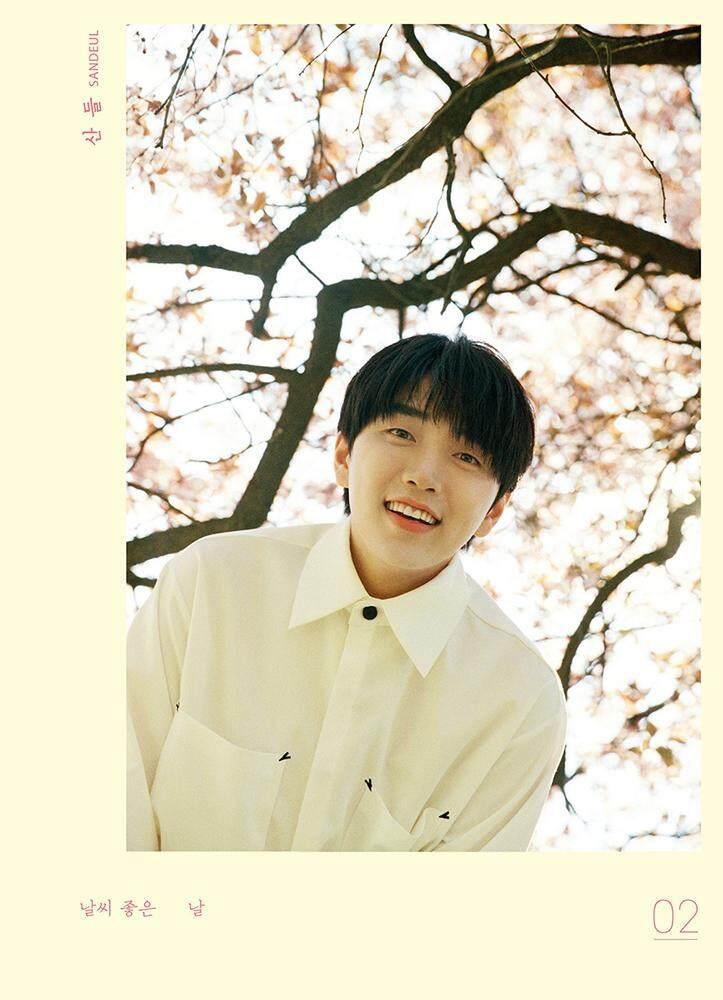SANDEUL - 2nd Mini Album CD+68p Photobook+Diary Photocard+Q&A Photocard+Clear Photocard+Folded Poster