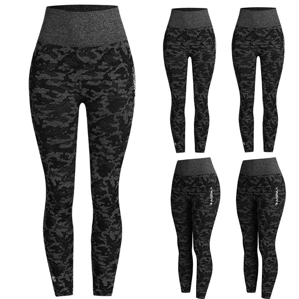 Pants Fashion Womens Sweatpants High Waist  Camouflage Yoga Sport Hip Pants Women's Clothing