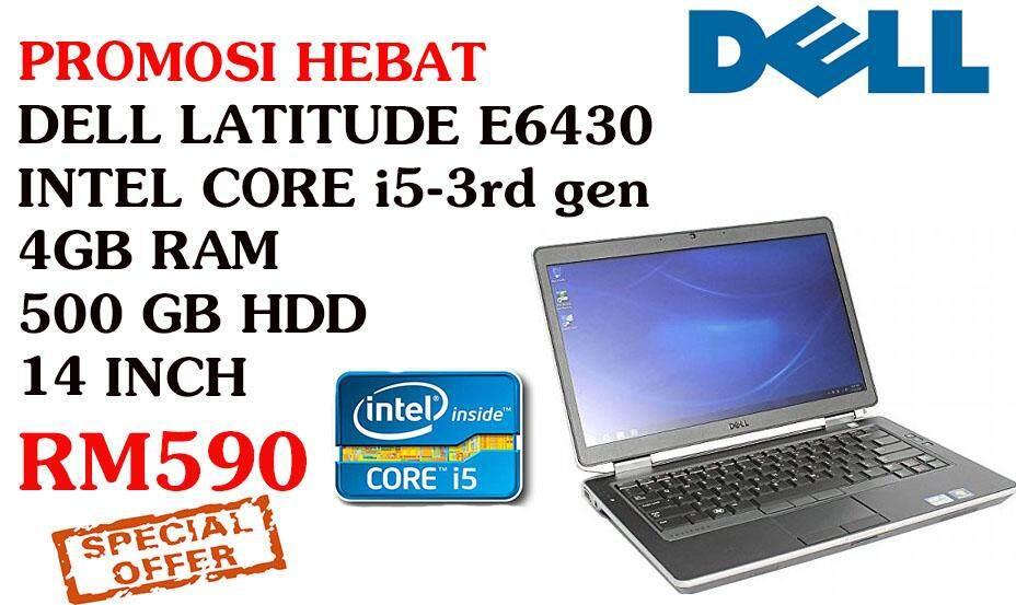 DELL E6430 INTEL CORE i5-3rd gen 4gb ram 500 gb hdd 14 inch Malaysia