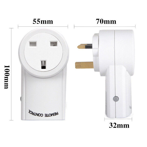 Universal for Socket Power Outlet 433Mhz Wireless Remote Control Smart Socket Plug for Broadlink RM Pro+ Indoor Home 1 TX To 3 RX UK plug