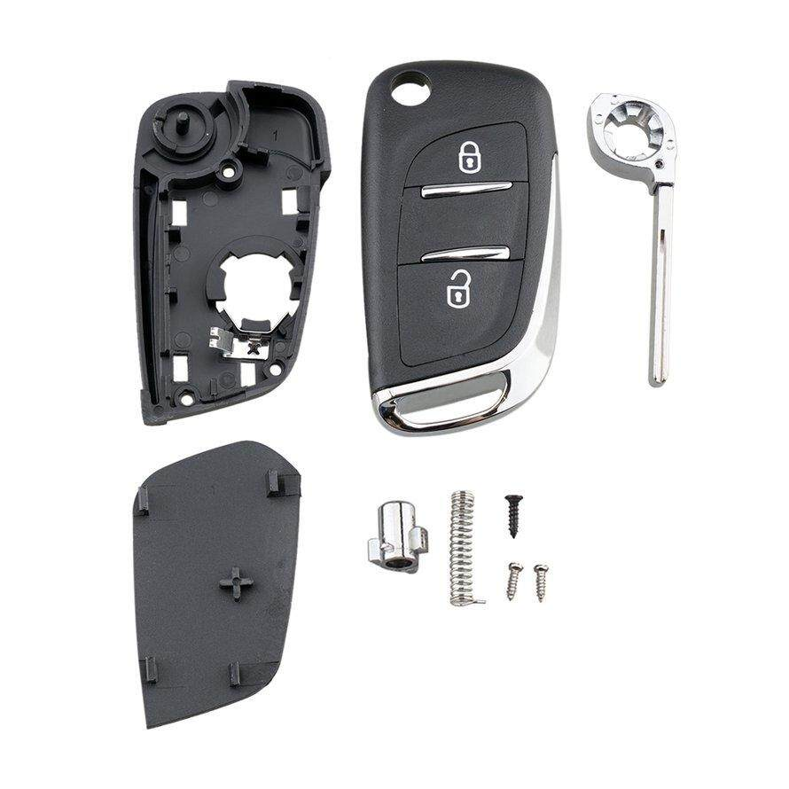 OSMAN Keyyou 2 Buttons Flip Remote Control Key Shell Case For Peugeot 307 408 308