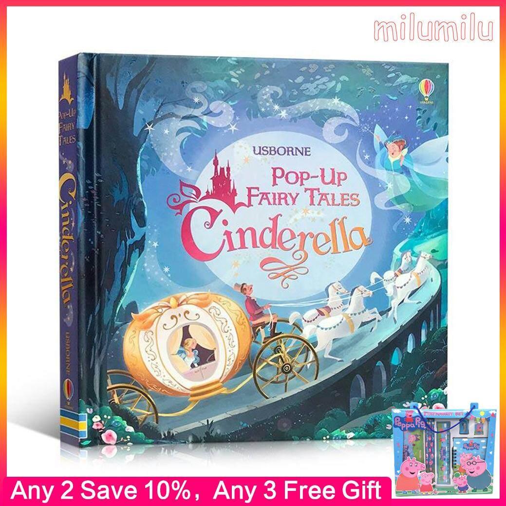 Usborne 3D English Books Pop-up Cinderella Board Book Children Educational Toys