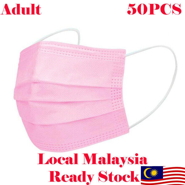 [Local Malaysia Ready Stock] Colorful Colour Adult Disposable Face Mask 3ply 50pcs (Box)