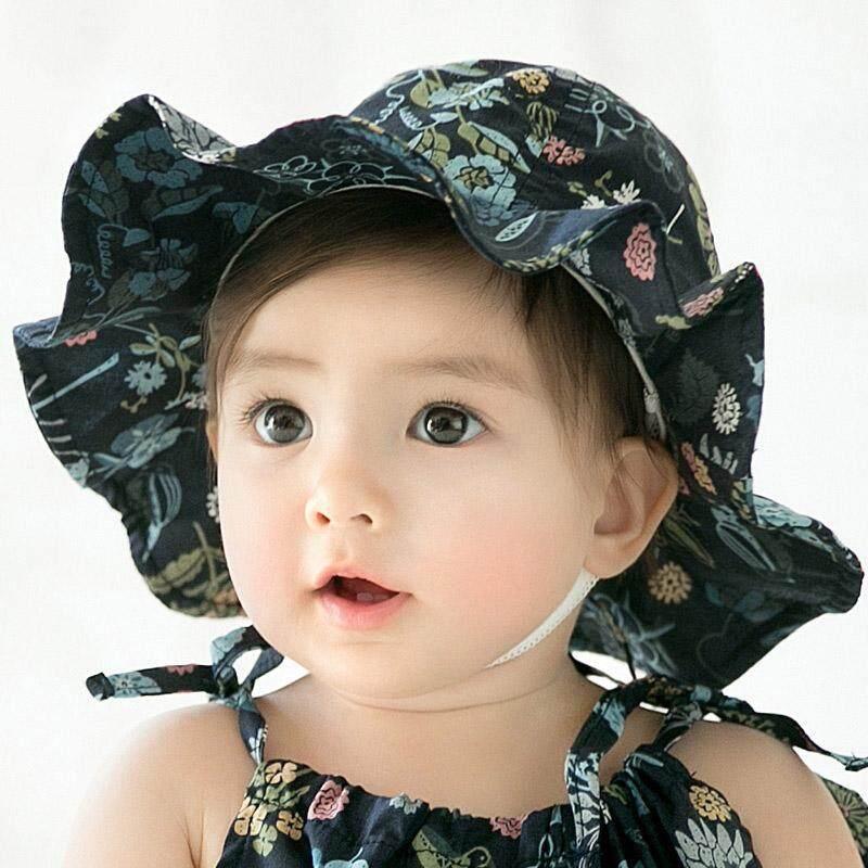854ac7e6e495 Baby Hat Newborn Baby Girl Hat Beach Bucket Cap Spring Children Kids Girls  Summer Hat Infant