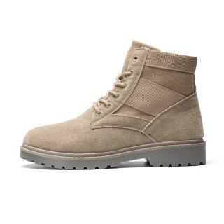 2020 Phong Cách Mùa Xuân Giày Cao Cổ Giày Da Đơn Giản Giày Hợp Thời Trang Giày Nam Sói Chiến Bốt Quân Đội Giày Hợp Thời Trang Giày Nam Tiến Sĩ Martens Boots thumbnail