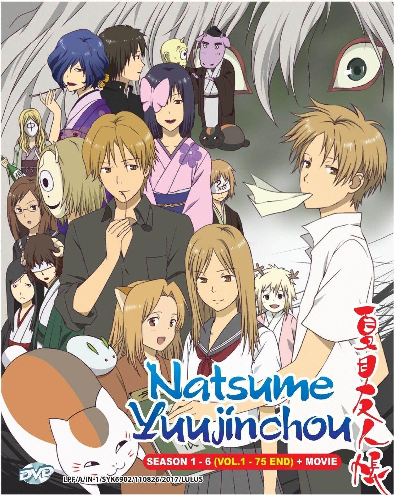 Anime Dvd Natsume Yuujinchou Season 1-6 Vol.1-75 End + Movie By Onekm Animation Shop.