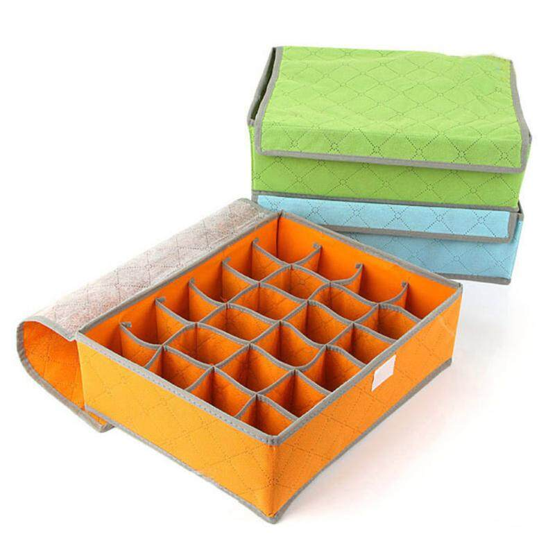 Mz10 Bamboo 24 Grid Foldable Underwear Organizer Storageties Boxes Scarfs Socks By Blisshome Online Shop.