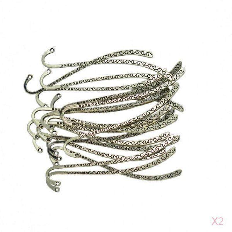 Baoblade 40pcs Antique Silver Tone Jewelry Making Charms Bookmark Pendant Findings Malaysia