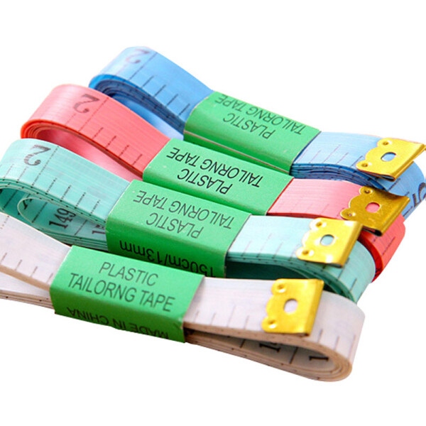 60in/150cm Soft Tailor Tape Double Sided Measure Ruler for Cloth Sewing Waist Head Circumference