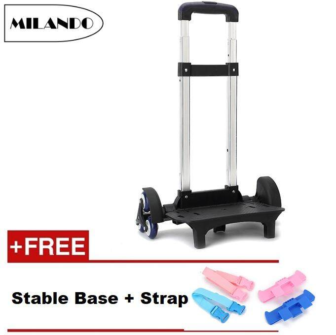 Milando 6-Wheel Trolley For School Bag Staircase Stair Trolley Backpack Hand Aluminium Alloy Folding Kid Trolley By Milando.