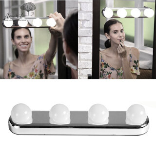 Amart 4 Bóng Đèn LED Gương Trang Điểm Đèn Trang Điểm Trang Điểm Phát Sáng Phòng Thu Chạy Pin, Siêu Sáng thumbnail