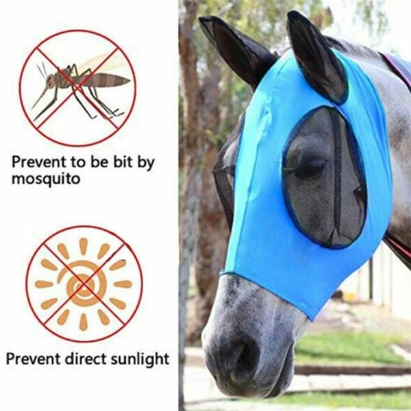 4 Kích Cỡ Mặt Nạ Chống Muỗi Thoáng Khí Có Thể Tháo Rời Ngựa Mặt Nạ Ngựa Mặt Nạ Bảo Vệ UV Sun Bảo Vệ