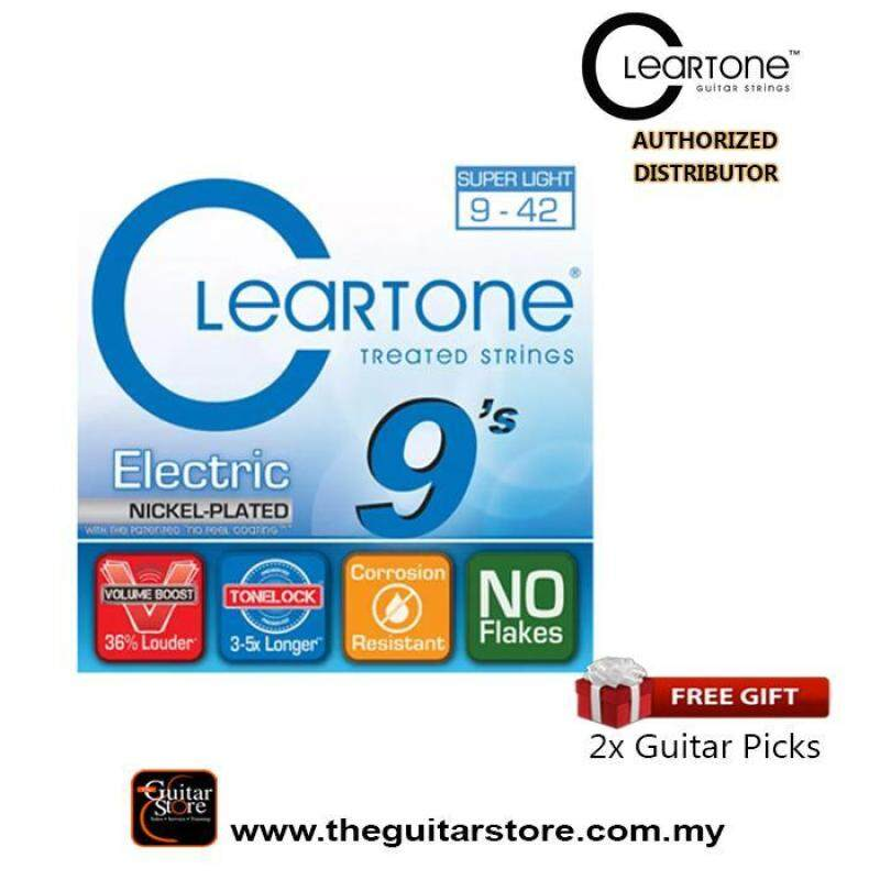 CLEARTONE NICKEL PLATED 9-42 Electric Guitar Strings Malaysia