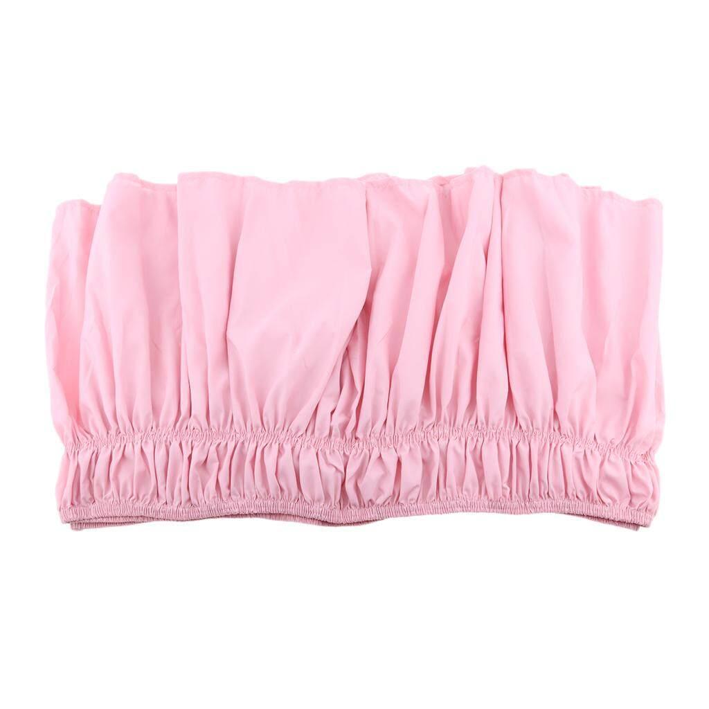 """Perfk Microfiber Warna Solid Lipit Rok Bed Pita Elastis Bed Apron Kelambu 15 """"Drop"""
