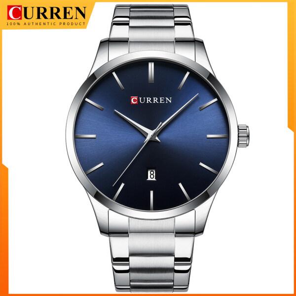 CURREN Men Watch Top Brand Luxury Fashion Outdoor Sport Military Quartz Wristwatch Steel Waterproof Automatic Date Business Clock 8357 Malaysia
